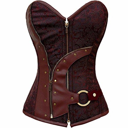 Yall cintura Corset Body Cuerpo Retro Clip de cinturón Red