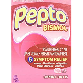 Pepto-Bismol BXPB25 Tablets, Two-Pack, 25 Packs/Box