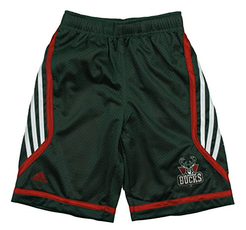 Milwaukee Bucks NBA Big Boys Chosen Few Illuminator Shorts, Green (Large (14-16), Green) Adidas Nba Basketball Shorts