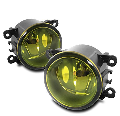 Yellow Housing - ZMAUTOPARTS Bumper Driving Fog Lights Lamps Yellow For Acura/Ford/Honda/Jaguar/Lincoln/Subaru/Suzuki