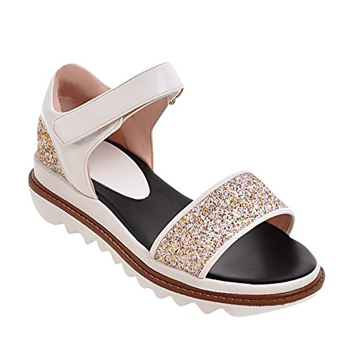 Mee Shoes Women's Fashion Sequins Platform Wedge Heel Sandals Shoes golden bpvUJ8MkQ