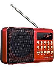 Digital FM Mini Portable Radio - Red