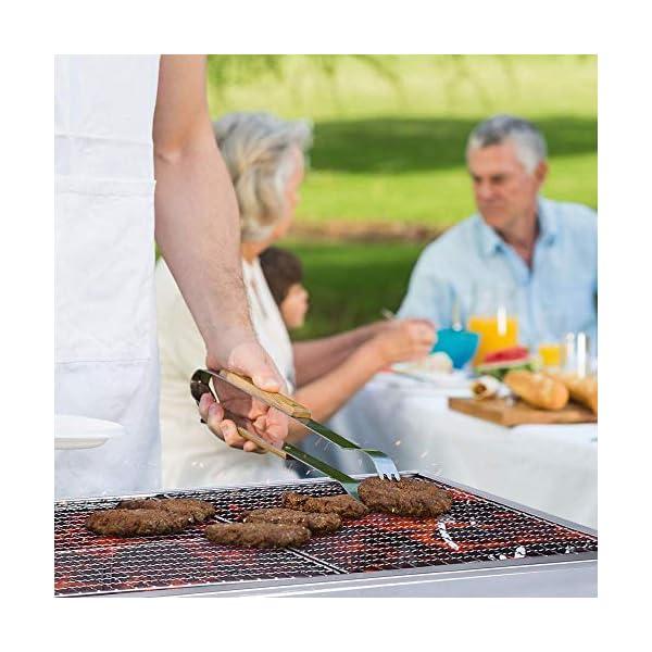 Mbuynow Barbecue Griglia a Carbone Professionale per 5-10 Persone, Utensile BBQ Grill Barbecue Carbone Pieghevole per… 5 spesavip