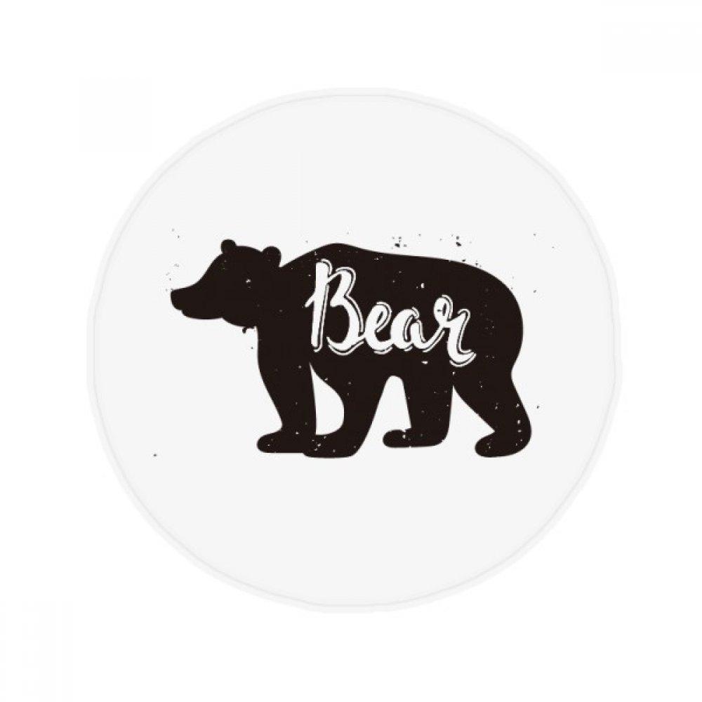 60X60cm DIYthinker Bear Black and White Animal Anti-Slip Floor Pet Mat Round Bathroom Living Room Kitchen Door 60 50Cm Gift