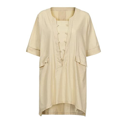 Amazon.com : Gallity Hot Sale Women Plus Size Irregular Loose Linen Half Sleeve Shirt Vintage Tunic Blouse (3XL, Gray) (3XL, White) : Garden & Outdoor