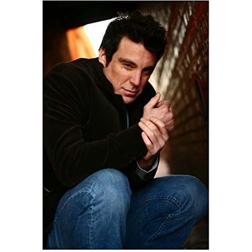 Michael T Weiss Close Up Crouched Down Holding Wrist 8 x 10 Inch Photo