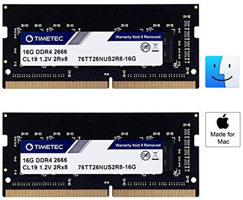 Timetec Hynix IC 32GB Kit (2x16GB) DDR4 2666MHz PC4-21300 SODIMM Memory  Upgrade for Apple Mac Mini 8,1 Late 2018 and iMac TBD2 Retina 5K 27-inch  Early