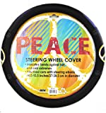 Comfort Grip Steering Wheel Cover - Peace Sign Symbol Yellow