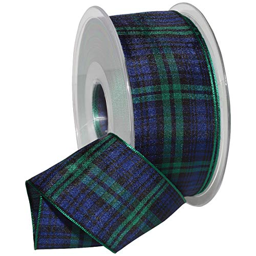 Morex Ribbon 975 Edinburgh Ribbon, 1.5 inches by 27 Yards, Black Watch Tartan