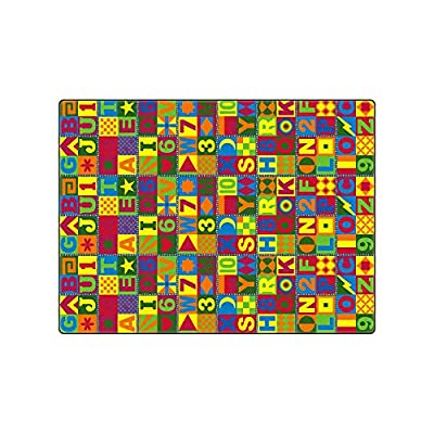 Flagship Carpets Floors That Teach Primary Children Education Learning Floor Playmat Nylon Rectangle 9' x 12'
