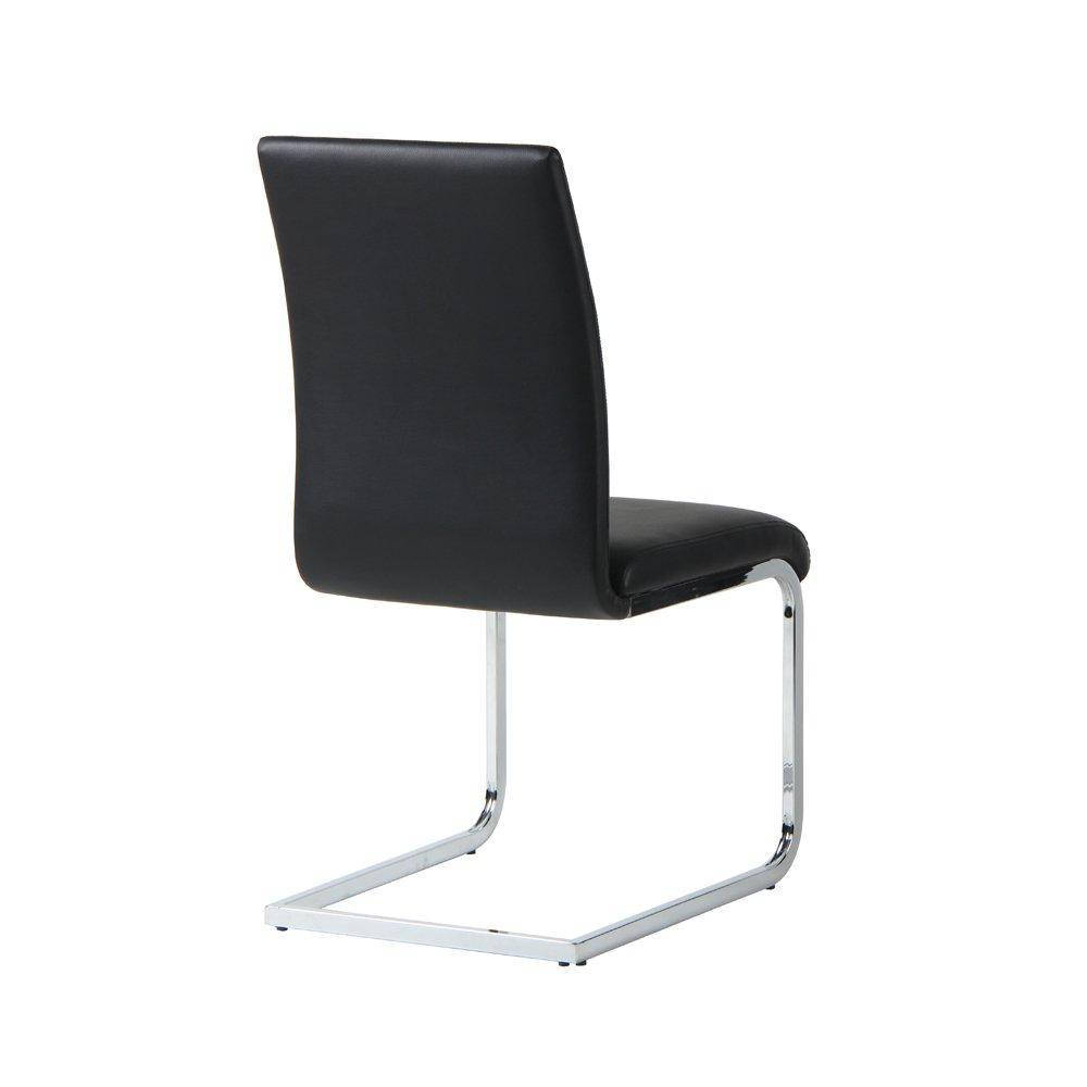 Designetsamaison Dining Room Chair Black