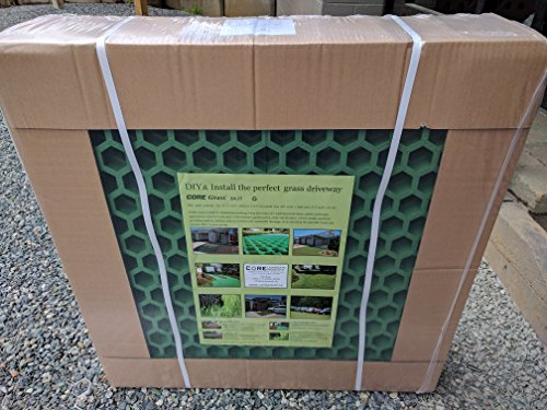 CORE Grass - Turf Reinforcement Grids. Perfect for Living driveways, Parking, RV Parking/Access Lanes, Garden Paths and Lawn Reinforcement. Each Pack Will Cover a Total Area of 33 sq.ft. (3.0 m2).