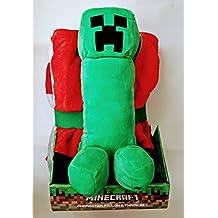 "Minecraft 10.5"" Creeper Plush Pillowbuddy and TNT Throw Set | Character Pillow Gift Set"