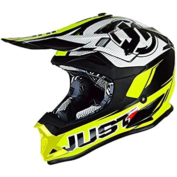 Casco Moto Cross Enduro Just 1 J32 Pro Rave Neon Amarillo Negro Extra Small: Amazon.es: Coche y moto