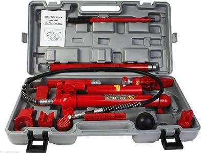Goplus 10 Ton Porta Power Hydraulic Jack Body Frame Repair Kit Auto Shop Tool Heavy Set