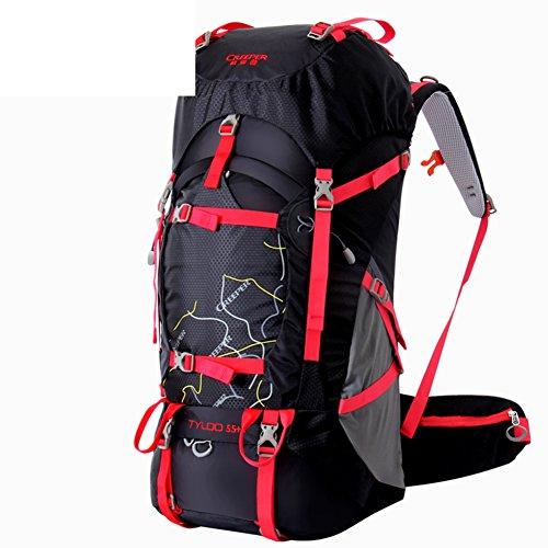 borse alpinismo esterno/Borse da viaggio/zaino da viaggio-Nero 65+5L