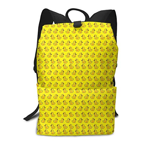 Travel Backpack Laptop Backpack Large Diaper Bag - Cute Funny Yellow Rubber Duck Backpack School Backpack For Women & Men ()