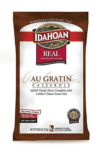 Idahoan Real Au Gratin Casserole Potatoes, 20.35 Ounce -- 12 per case.