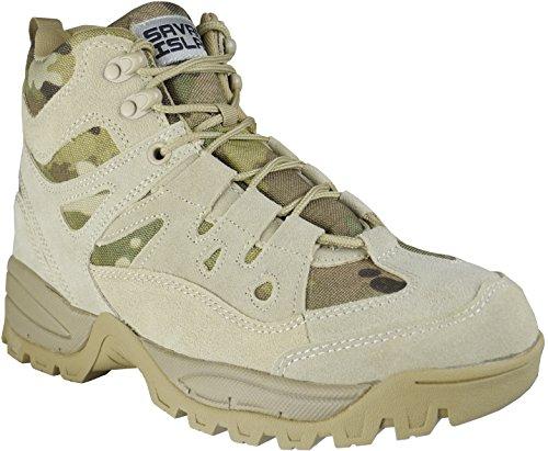 Savage Island Chaussures Militaires Bottes Bottines Mi-Hautes pour Combat Armée Tactique Randonnée Trekking Montagne Multicam XIX39T