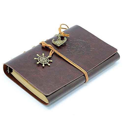 Leather Notebook MerryNine Christmas Refillable