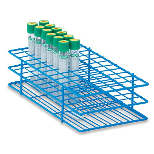 16mm Tube Rack for 10mL Test Tubes Medium Holds 72 tubes 9.5''L x 5''W x 2.5''H