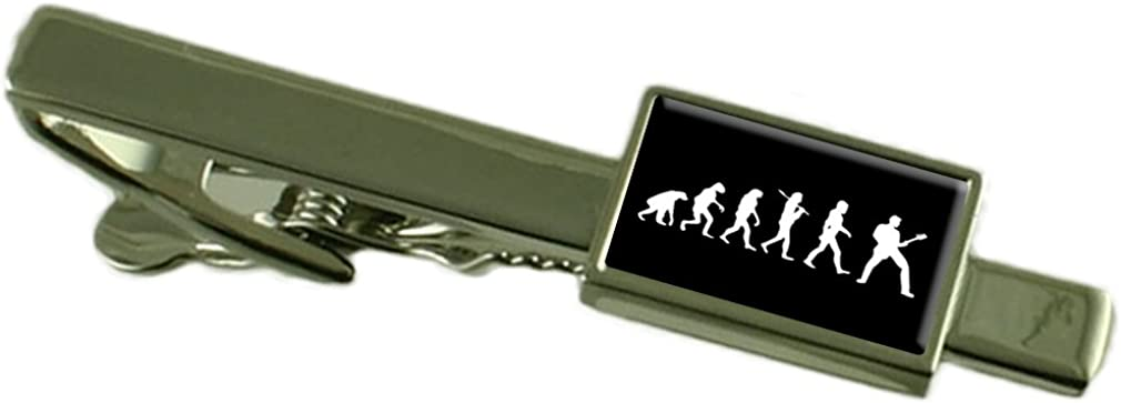 Select Gifts Evolution Ape to Man Guitar Tie Clip Pouch