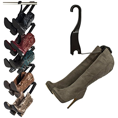 Boot Butler Boot Storage Rack by As Seen On Rachael Ray – Clean Up Your Closet Floor with Hanging Boot Storage – Easy to Assemble & Built to Last – 5-Pair Hanger Organizer & Shaper/Tree