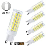 75w type a bulb daylight - G9 led light bulbs 75W 100W replacement, halogen bulbs equivalent 850lm, Dimmable g9 led bulbs AC110V 120V 130 voltage Input, Daylight white 6000k,g9 Led bulb, pack of 4
