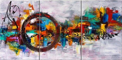 Santin art circle of magic modern canvas art wall decor abstract oil painting wall art amazon co uk kitchen home