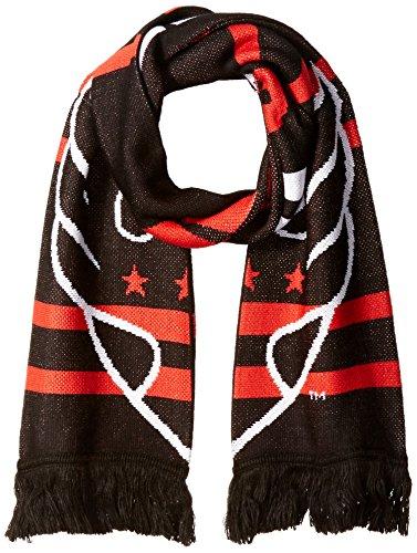 MLS D.C. United Halftime Jacquard Scarf, Black, One Size (Jacquard United Scarf)