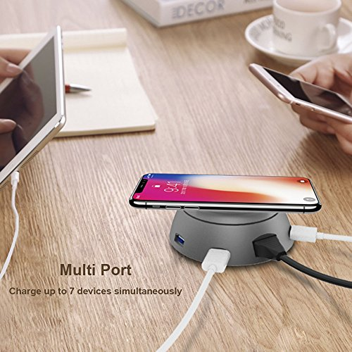 Cargador Inalámbrico Qi Wireless Charger Carga Cargador USB para iPhone X, iPhone 8 Plus, iPhone 8, Samsung Galaxy S8 Plus, S8, Note8, S7 Edge, S7, etc type 1