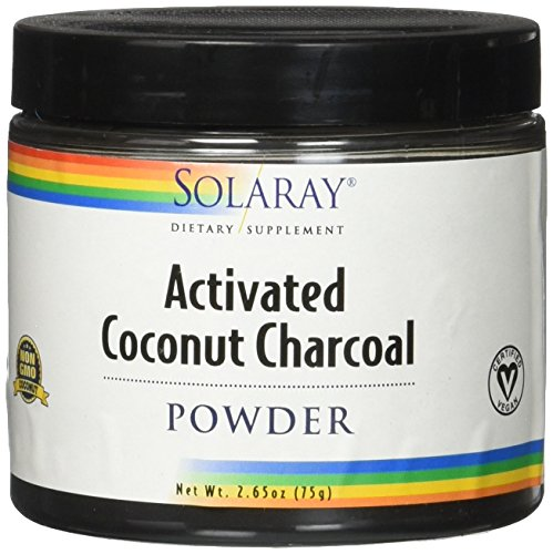 Solaray Coconut Charcoal Activated Fine Powder, 75 Gram