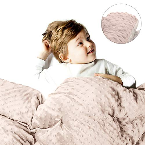 sSnooze Duvet Cover for Weighted Blanket - Luxury Duo Tone, Super Soft Diamond Quilt & Sensory Minky Dots   Couch Throw Blanket   60