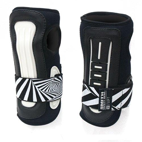 Smith Safety Gear Scabs Pro Wrist Stabilizer, Black/White, - Wrist Pro Guards