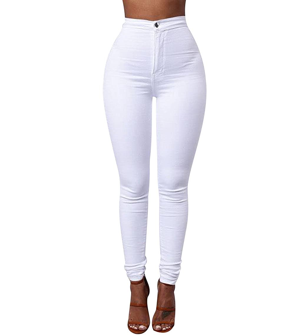 bc8560519ad4ad ISSHE Jegging Femme Pantalon Skinny Taille Haute Slim Tregging Pantalons  Stretch Femmes Legging Crayon Pantalon Leggings Jeggings Grande Taille ...