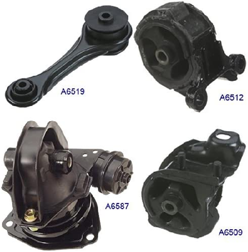 4pcs Front Left Engine Motor Trans Mount Set Fit for HONDA Accord 2.2L 90-93