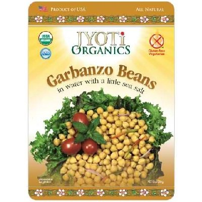 Jyoti Organics Garbanzo Beans 12x 10OZ by Jyoti Organics