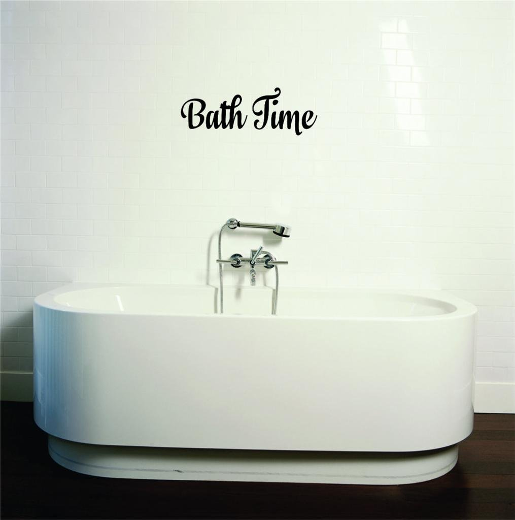 High quality decal wall sticker on sale now bath time for Bathroom decor on sale