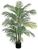 Contemporary Style Areca Silk Palm Tree, 4 ft. H