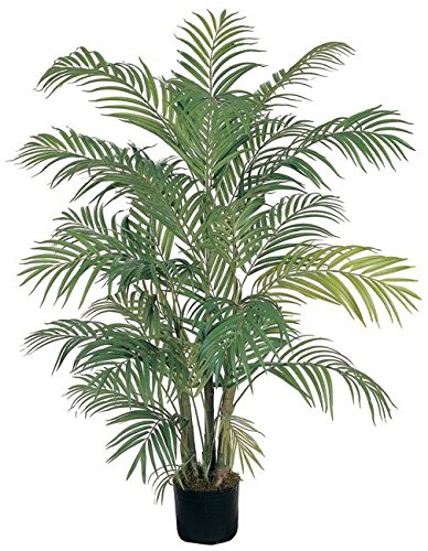 Contemporary Style Areca Silk Palm Tree, 4 ft. H by N2