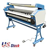 US Stock - 55'' Full-auto Wide format Cold Laminator Entry Level Roll to Roll Large Stand Format Laminating Machine with Metal Sheet Construction