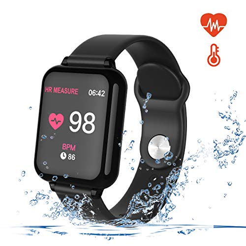 (Smart Watch for Android and iOS Phones with Heart Rate & Blood Pressure Monitor, Sleep Monitort, Information Reminder & Rtep Counter Waterproof Fitness Tracker for Men, Women and Kids)