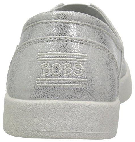 Skechers Bobs De Womens Bobs B-aimé-liquide Sparkle Plat Argent