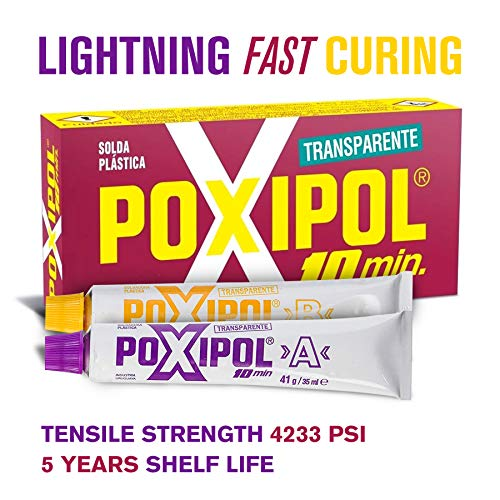 (POXIPOL 10min Epoxy Adhesive glue 2.37 ounce | Super Strong glue, Transparent, Waterproof ,Fast Cure and Durable epoxy glue | For Industry, Home Repairs, Workshops, Arts and Crafts, Hobbies, Metal)