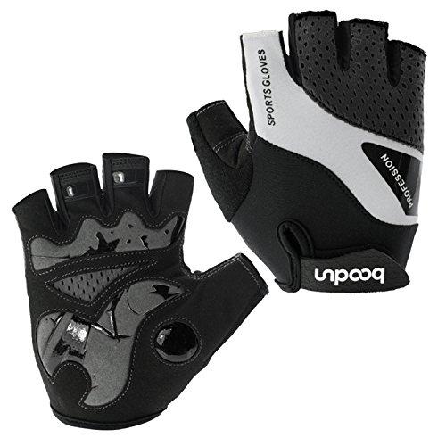BOODUN Radfahren Handschuhe für Männer Frauen Half Finger Fahrradhandschuhe Atmungsaktive Anti-Rutsch-Handschuhe