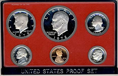 1992 S Clad Proof 5 Coin Set in Original Government Packaging Proof