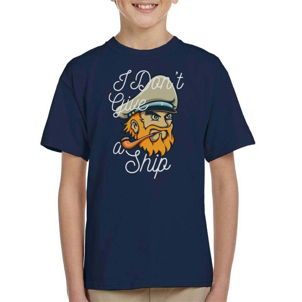 Captain Dont Give A Ship Kids T-Shirt