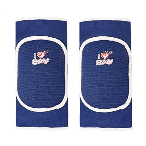 BYP Kids Knee Pads Sponge Pad with Hole for Sports Skate Skateboarding Dance Basketball (Blue, - Offers Boots Glasses