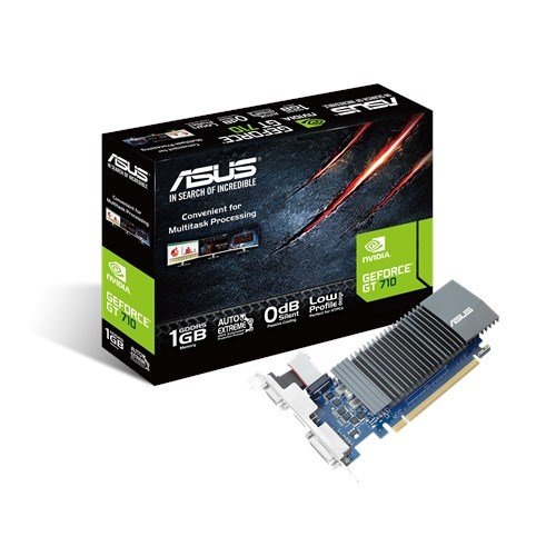 ASUS GT710-SL-1GD5 GeForce GT 710 Graphics Card with 0 dB Efficient Cooling