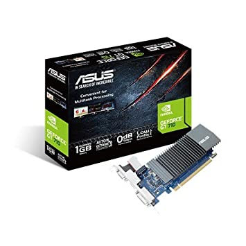 ASUS GeForce GT 710 GeForce GT 710 1GB GDDR5 - Tarjeta gráfica (NVIDIA, GeForce GT 710, 2560 x 1600 Pixeles, 954 MHz, 1 GB, GDDR5)